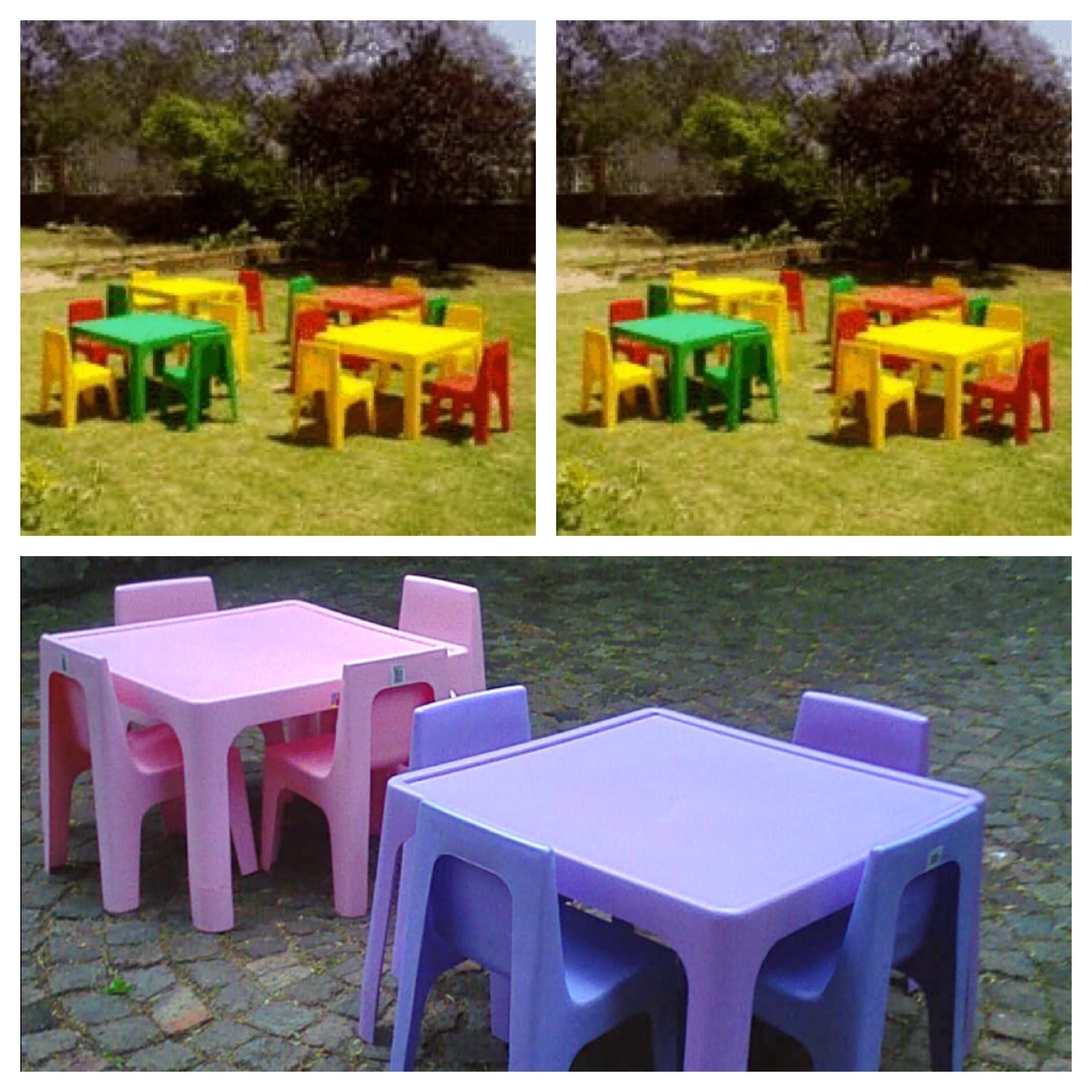 Kids Table & Chairs Daily R60 per set 4 chairs & 1 table and