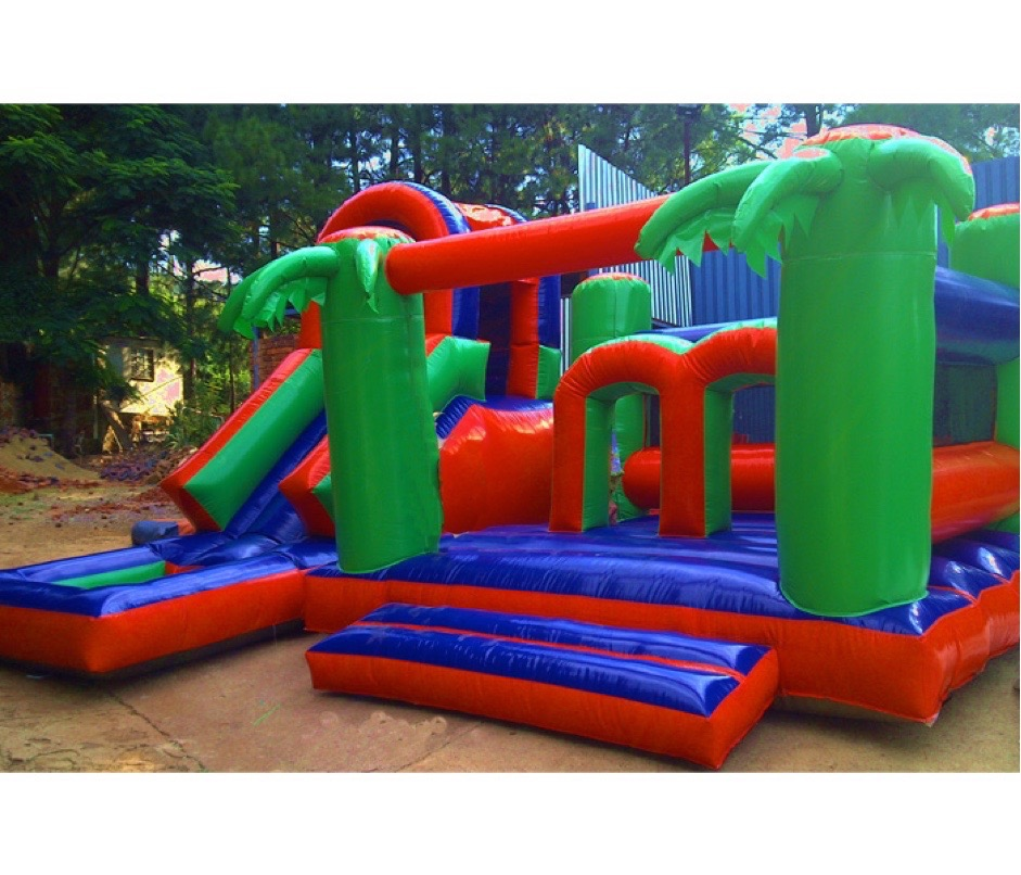 jungle jumping castle inflatable
